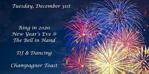 Ring in the New Years at the Bell in Hand 2020