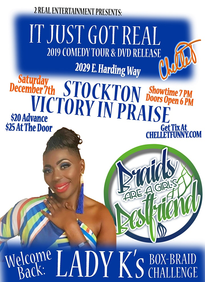 Chelle T... It Just Got Real Comedy Tour & DVD Release - Stockton image