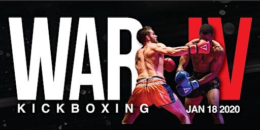 War Kickboxing: WAR IV