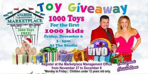Toy Giveaway at Anaheim Marketplace