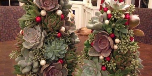 Succulent Christmas Tree Class