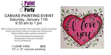 I Love You -- Saturday, January 11 tickets
