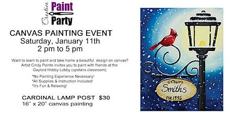 Cardinal Lamp Post --Saturday, January 11, 2020 tickets