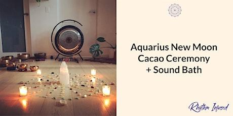Aquarius New Moon Cacao Ceremony + Sound Bath tickets