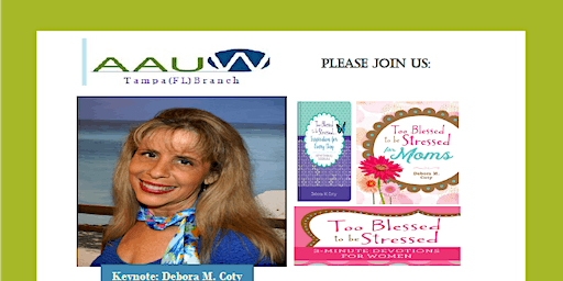 """AAUW Tampa Luncheon & Fundraiser: Champion Mind: """"Decom-stress"""" for Success"""