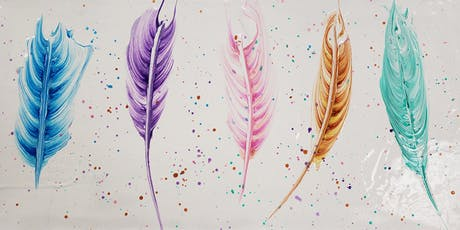 Feather Paint Pour Paint Night tickets