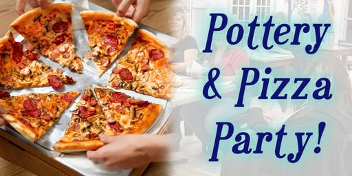 Pottery & Pizza Party - Paint Late & Free Pizza!!