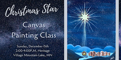 Christmas Star Canvas Painting Class
