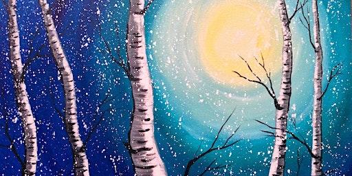 Wine & Painting - Winter Warm Up Paint Night