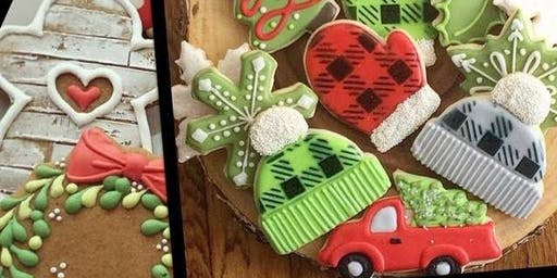 """Rustic Christmas""  Advance Royal Icing Cookie Class"