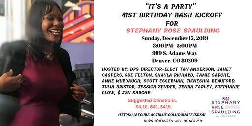 It's A Party! 41st Birthday Bash Kickoff for Stephany Rose Spaulding