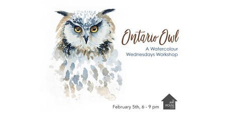Ontario Owl - Watercolour Workshop tickets