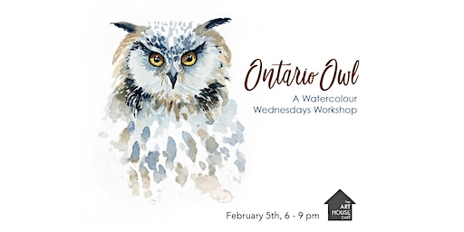 [Sold Out] Ontario Owl - Watercolour Workshop