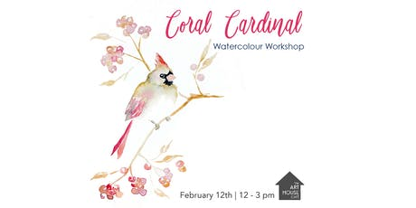 Coral Cardinal - Watercolour Workshop tickets