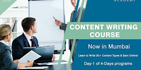 Day 1 Content Writing Course in Mumbai tickets