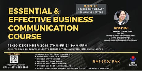 Essential & Effective Business Communication Course (HRDF Claimable) tickets