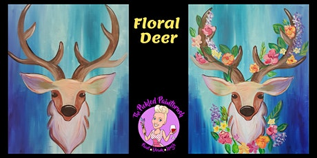 Painting Class - Floral Deer - ALL AGES - January 19, 2020 tickets