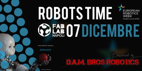 Robots time| European Robotics Week 2019 biglietti