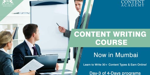 Day 3 Content Writing Course in Mumbai