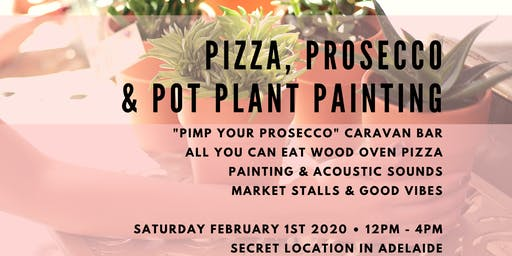 Pizza, Prosecco & Pot Plant Painting No. 2