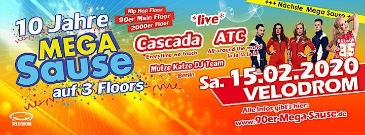Die MEGA Sause mit mit Cascada und ATC *live* am 15.02.2020 im VELODROM: Bild