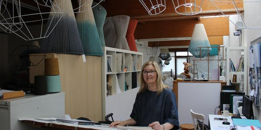 Janie Knitted Textiles Make a geometric lampshade