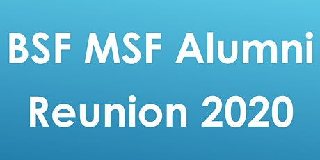 BSF MSF Reunion tickets