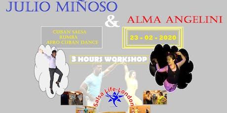 Julio Miñoso & Alma Angelini Dance Workshop  tickets