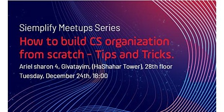 How to build CS organization from scratch- Tips and Tricks tickets