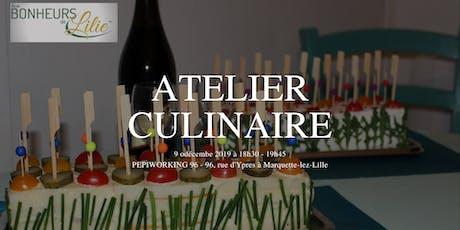 Atelier culinaire billets
