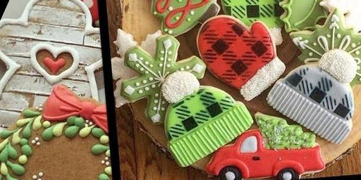 """Rustic Christmas "" Advance Level Royal Icing Cookie Class"