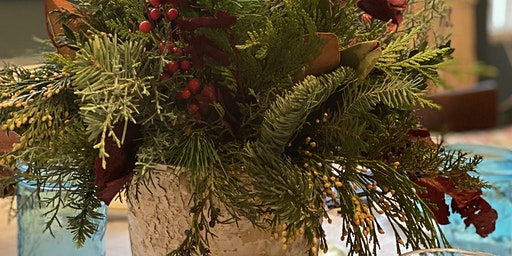 Holiday Centerpiece Sip + Snip