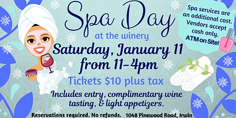 Winter Spa Day at the Winery tickets