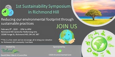 1st Sustainability Symposium in Richmond Hill tickets