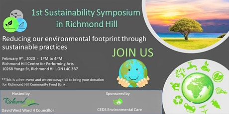 1st Sustainability Symposium in Richmond Hill tickets