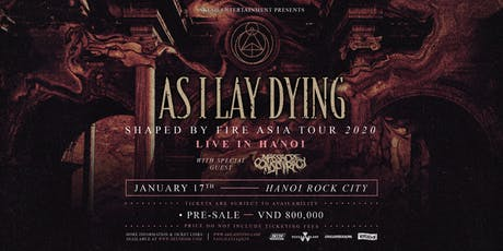 As I Lay Dying Live in Hanoi 2020 tickets