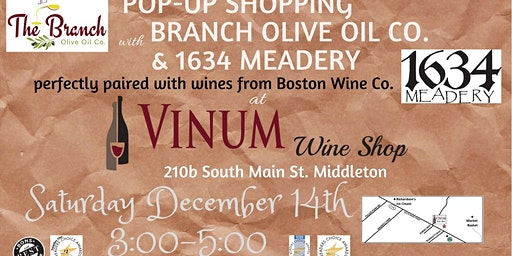 Pop-up with Branch 1634 Meadery & Wine with Boston Wine Co.