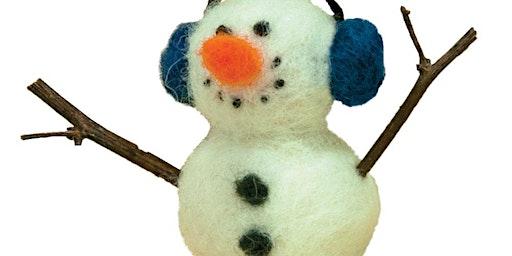 Needle-felting: Snowman