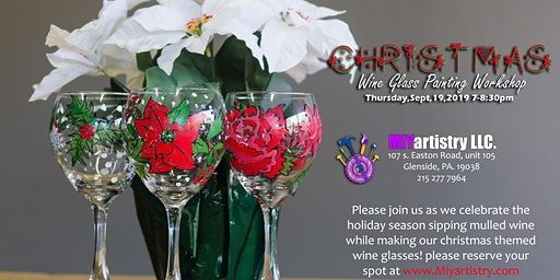 Christmas Wine Glass Painting Workshop