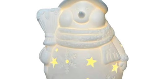 Copy of Ceramic Snowman Painting