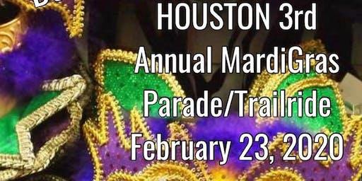 Houston's 3rd Annual MardiGras Parade/TrailRide