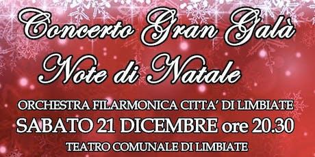 Concerto Gran Galà Note di Natale biglietti
