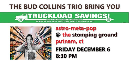 Bud Collins Trio at The Stomping Ground, Putnam CT