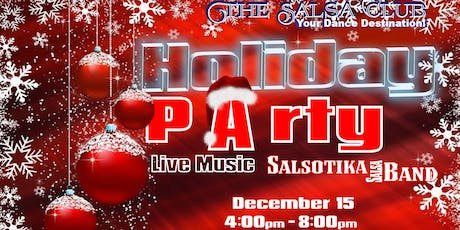 LATIN HOLIDAY PARTY! Live Latin music $300 Giveaways, Dance Lessons 'n more tickets