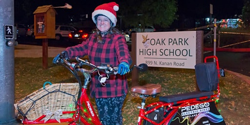 Oak Park Christmas Parade Ride 2019