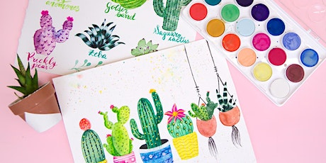 Succulents and Cacti Watercolor Workshop tickets