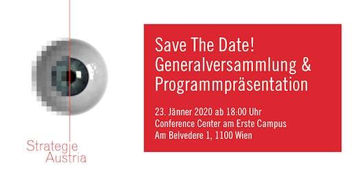 Generalversammlung & Programmpräsentation