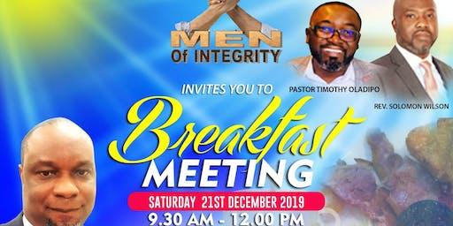 MEN OF INTEGRITY CHRISTMAS BREAKFAST MEETING