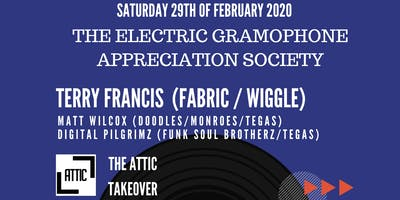 DJ Terry Francis (Fabric/Wiggle) at The Attic Torquay.