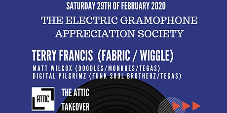 DJ Terry Francis (Fabric/Wiggle) at The Attic Torquay. tickets